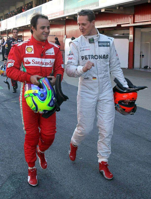 Felipe Massa ja Michael Schumacher.