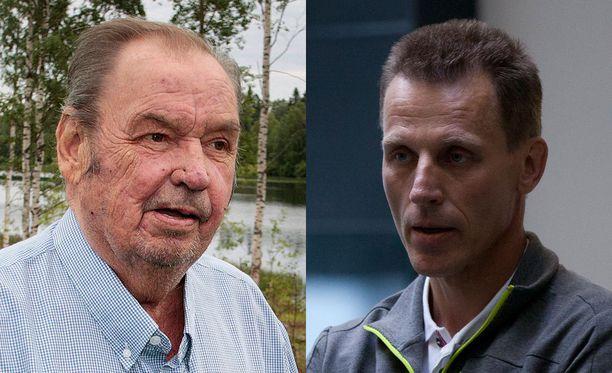 Paavo M. Petäjä ja Kari-Pekka Kyrö työskentelivät Hiihtoliitossa Lahden katastrofikisojen aikaan.