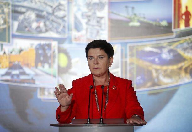 Laki ja oikeus -puolueen Beata Szydlo on toiminut Puolan pääministerinä vuodesta 2015.
