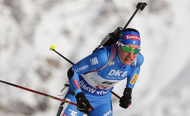 Alexia Runggaldier nappasi yllättäen MM-pronssia Itävallan Hochfilzenissä.