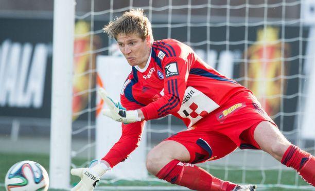 HJK:n maalivahti Michael Törnes teki ennätyksen.