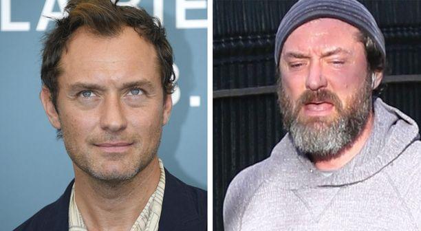 Jude Law esiintyi vielä vuonna 2019 pienessä sängessä, mutta nykyään mies hölkkäilee paksussa parrassa.