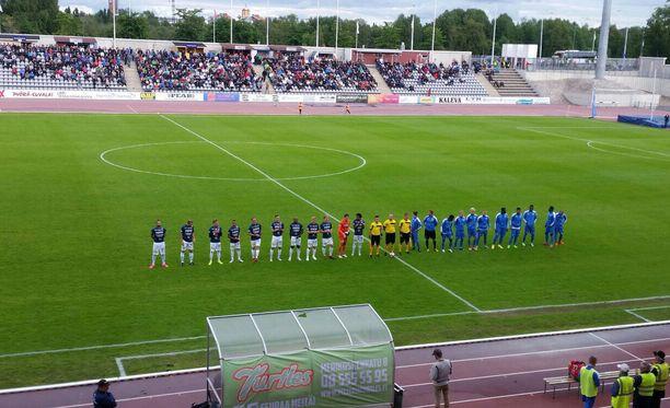 AC Oulun ja OPS:n ottelu keskeytettiin keskiviikkoiltana.