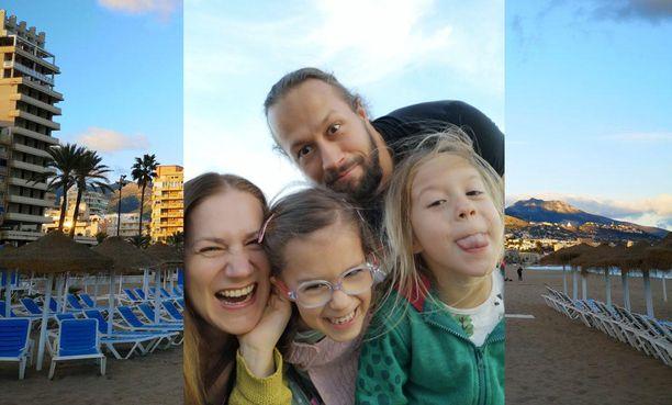 Kristan perhe on viettänyt jo kolme talvea Espanjassa.