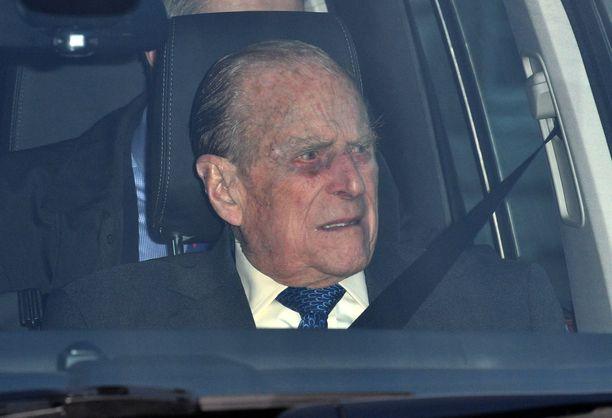 Kuvassa prinssi Philip joulukuussa.