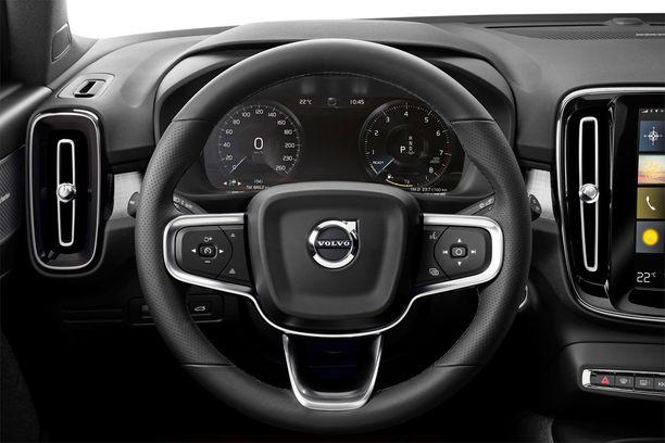 Perusnäkymä kuljettajan edessä on selkeä ja konstailematon.