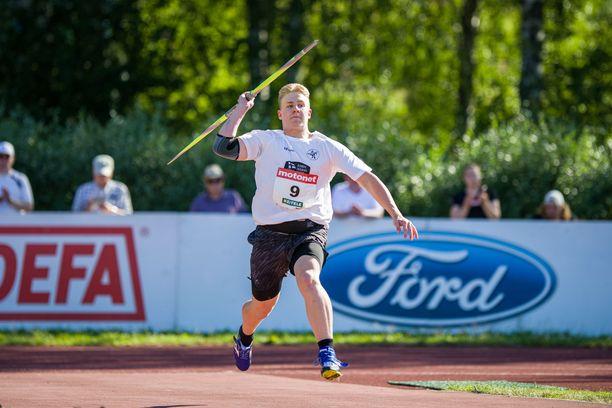 Janne Läspä voitti keihäänheiton MM-kultaa.