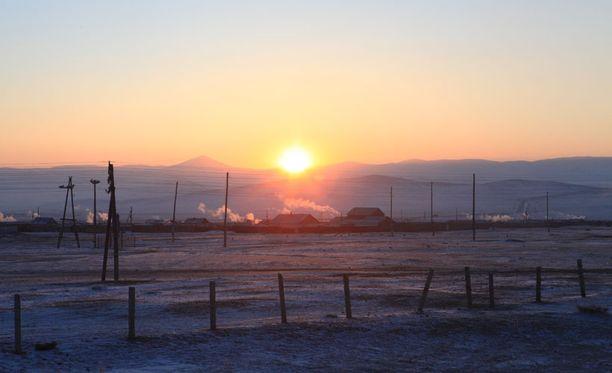 -50 astetta Talvella Siperiassa on jäätävän kylmä, pakkanen voi käydä jopa -50 asteessa.