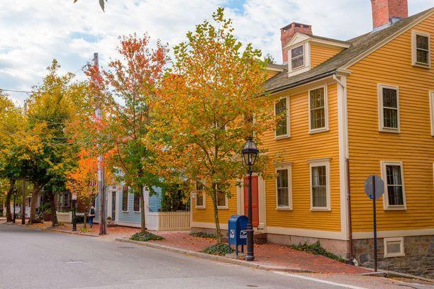 Yhdysvaltain Providencen syystunnelmat ovat näin värikkäitä.