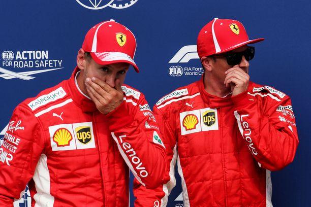 Sebastian Vettel esitti Kimi Räikköselle tiukkoja kysymyksiä.