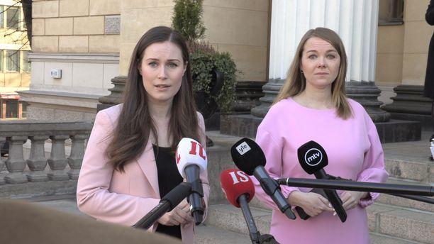 Pääministeri Sanna Marin ja valtiovarainministeri Katri Kulmuni ovat avainasemassa uusista koronatuista päätettäessä.