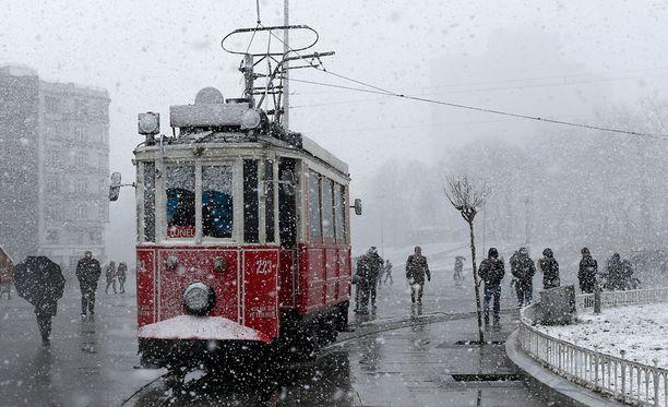 Näin talvista oli Istanbulissa helmikuussa.
