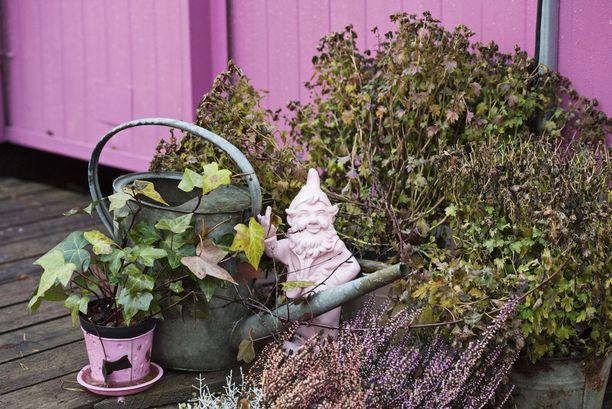 Onko olemassa työpaikka, jossa joskus ei joku asia ketuttaisi? No ei. Ja sitähän mieltä porraspielen vaaleanpunainen, keskisormeaan näyttävä puutarhatonttu.