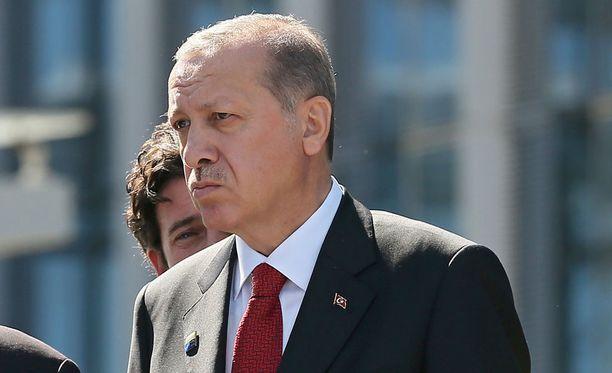Turkin presidentti Recep Tayyip Erdogan puolustaa useiden arabimaiden kanssa kiistaan ajautunutta Qataria.