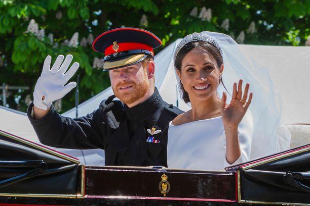 Prinssi Harry ja herttuatar Meghan menivät naimisiin toukokuussa 2018.