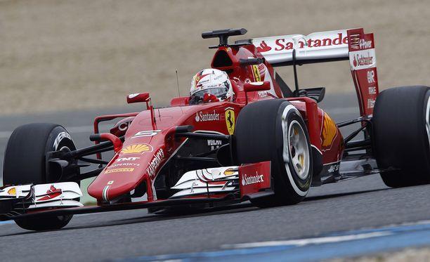 Tätä autoaan Sebastian Vettel kutsuu Evaksi.
