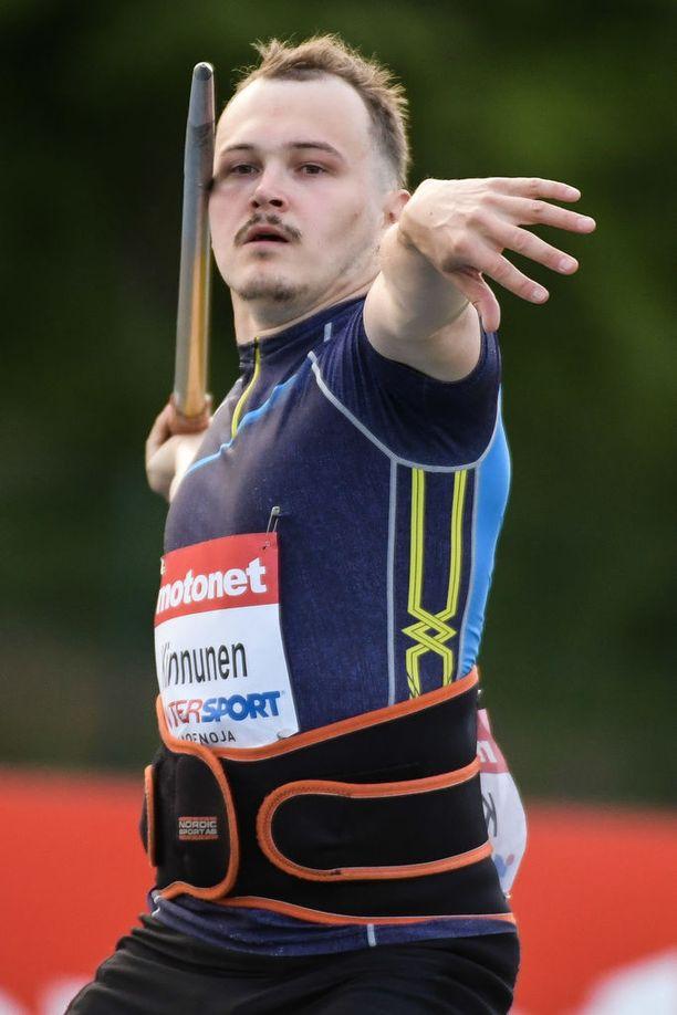 Jami Kinnunen on kolmannen polven keihäänheittäjä.