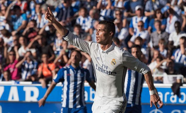 Cristiano Ronaldo oli tehokkaalla pelipäällä.