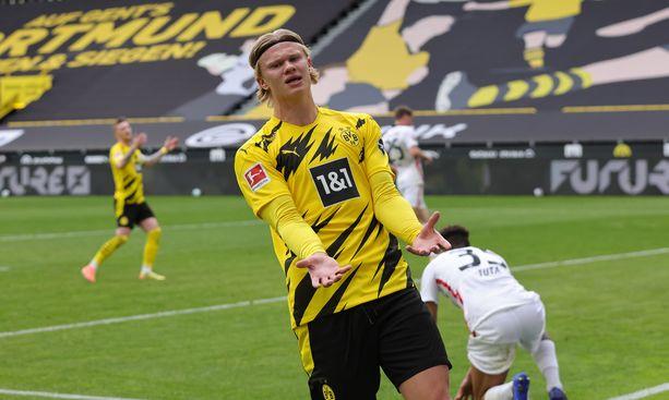 Erling Haaland on tehnyt tällä kaudella jo 33 maalia.