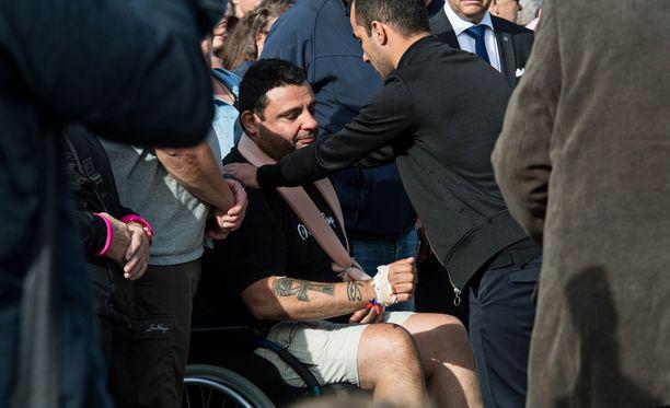 Hassan Zubier osallistui Turussa uhrien muistelutilaisuuteen.