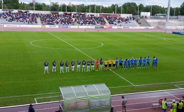 AC Oulun ja OPS:n välinen Oulun derby oli keskeytyshetkellä tilanteessa 0-0.