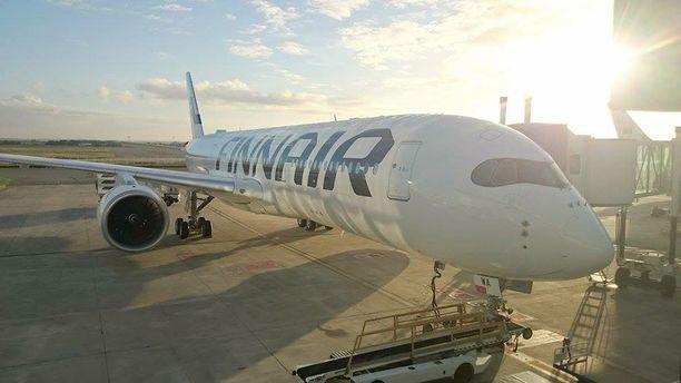 Airbus A350 -koneen vessat eivät toimineet kuin junan vessa. Kuvituskuva.