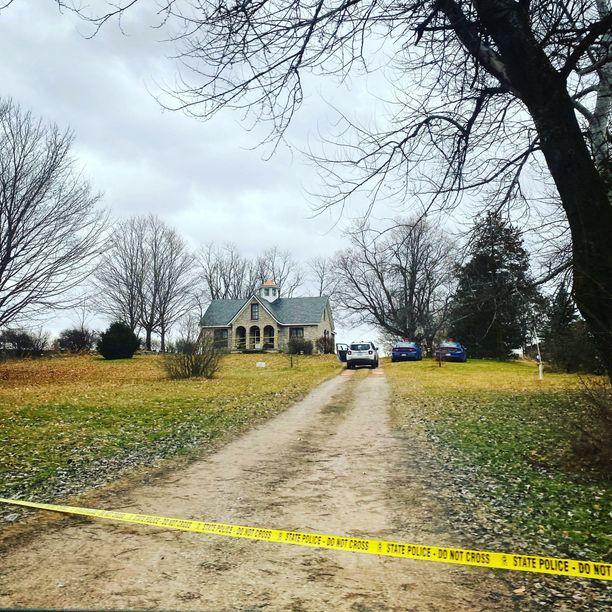 Tästä talosta Shiawasseen piirikunnasta Kevin Baconin ruumis löytyi.
