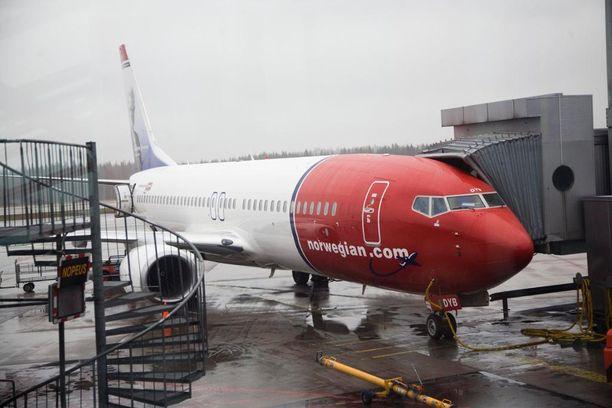 Norwegianin lento Las Palmasista Helsinkiin teki mutkan Tukholman kautta. Kuvituskuva.