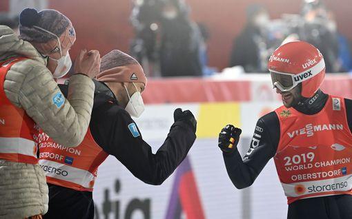 Mäkihypyn joukkuemäestä muodostui huima trilleri – Saksalle kultamitalit, Suomi karsiutui toiselta kierrokselta