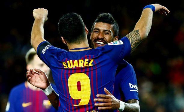 Luis Suárez ja Paulinho yltyivät maalivireeseen Deportivoa vastaan.