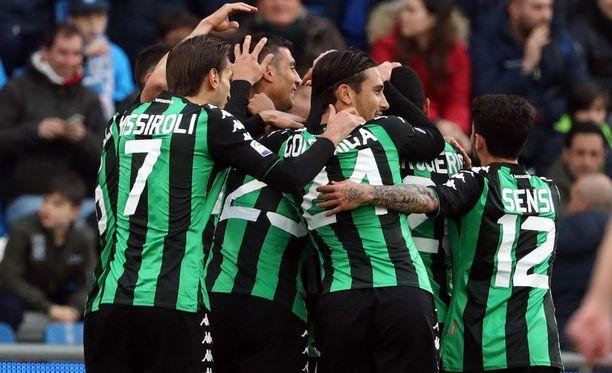 Sassuolo taisteli tasapelin Napolia vastaan.