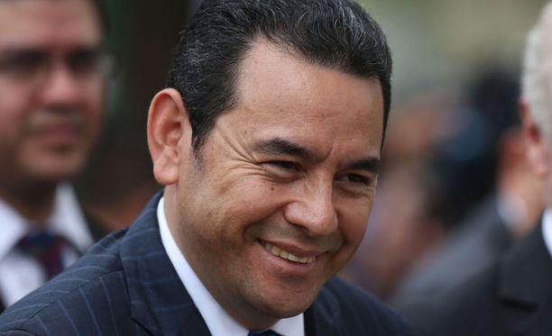 Kuvassa Guatemalan presidentti Jimmy Morales syyskuussa 2017.