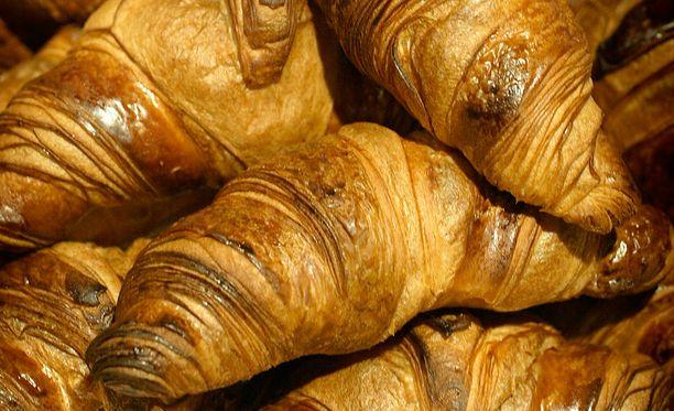 Croissanteista löytyy teollista transrasvaa.
