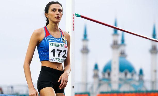 Korkeushyppääjä Maria Lasitskene ylivoimainen korkeushyppääjä.
