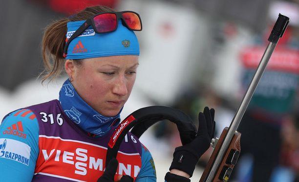 Olga Podtshufarova jättää kilpaladut.