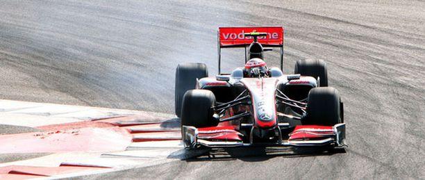 Heikki Kovalaisen auto petti aika-ajoissa.