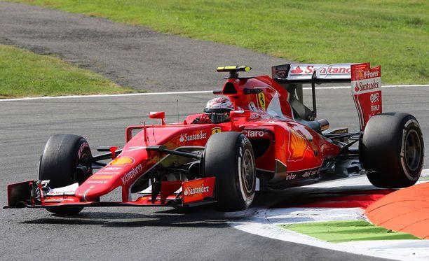 Kimi Räikkönen sijoittui viidenneksi Monzassa.