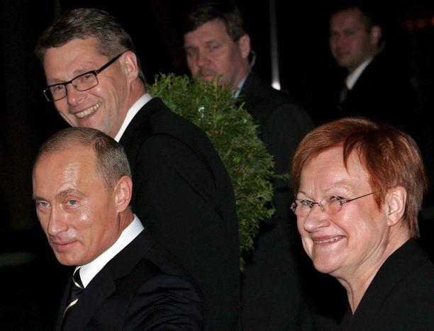 Pääministeri Matti Vanhanen, Halonen ja Putin tapasivat Suomen järjestämän energiakokouksen yhteydessä Lahdessa lokakuussa 2006. Päällimmäisenä keskustelunaiheena oli Georgian tilanne, josta molemmat presidentit olivat huolestuneita.