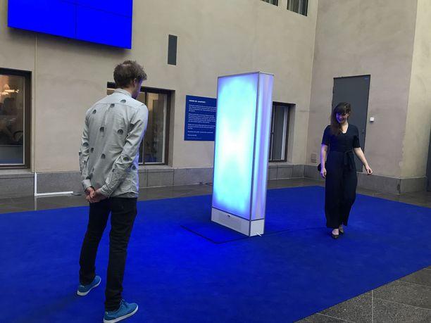 Mielenterveyden keskusliitto ja Janssen ovat lanseeranneet taidemuseo Ateneumissa masennusta näkyväksi tekevän Sound on -kampanjan. Kuvassa kolmen taiteilijan yhteistyönä tekemä teos Sound on, joka koostuu interaktiivisesta seinästä ja ääni-installaatiosta.