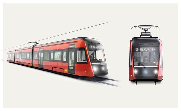 Tällaiset raitiovaunut nähdään Tampereella vuonna 2021.