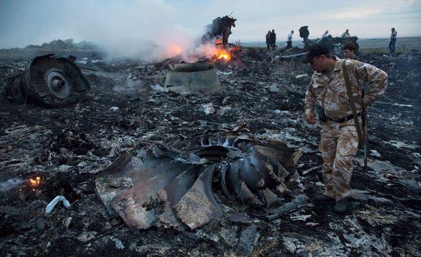 Malaysia Airlinesin heinäkuussa maahan ammutusta matkustajakoneesta ei jäänyt juuri mitään jäljelle.