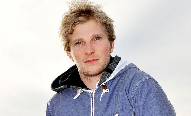 Janne Korpi juhli voittoa Rukalla.