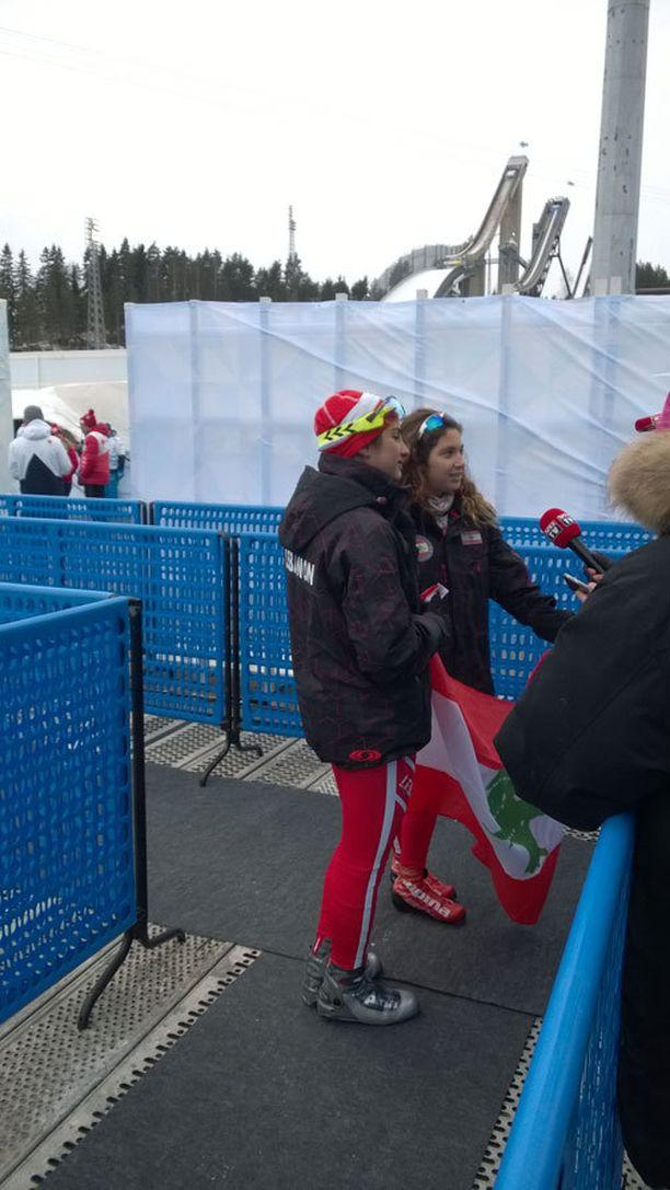 Mery Kayrouz ja Laetitia Arda ottivat ensimmäisten joukossa tuntumaa Lahden MM-latuihin.
