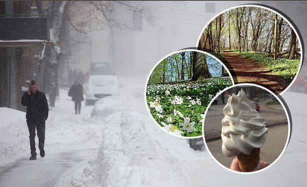 Huhtikuun alussa on tilastojen mukaan useinkin saattanut olla lumimyräkkä.