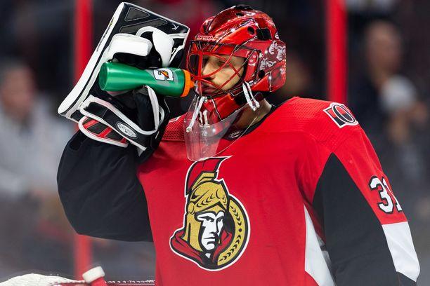 Anders Nilsson pelasi viime kaudella Ottawa Senatorsissa.