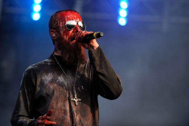 Tutkimuksessa kuunneltiin Bloodbath-yhtyeen kappaletta. Kuvassa laulaja Nick Holmes.