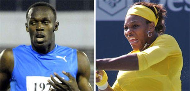 Usain Bolt ja Serena Williams valittiin jo toistamiseen vuoden parhaiksi urheilijoiksi.