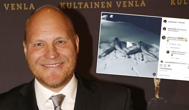 Kalle Palander julkaisi yöllä hauskan videon Instagramissa. Aamulla mies kuitenkin poisti sen.