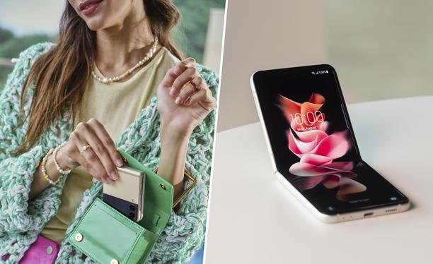 Samsung Galaxy Z Flip3 on kuin suoraan muotimaailmaan keskittyvistä tv-sarjoista.