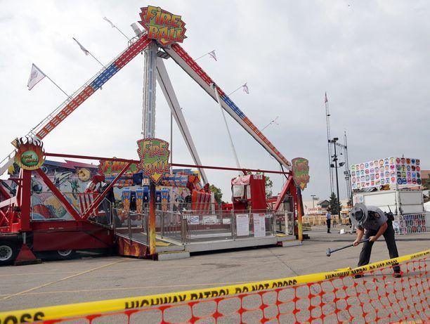 18-vuotias mies kuoli huvipuistolaitteen korin irrotessa Ohiossa.